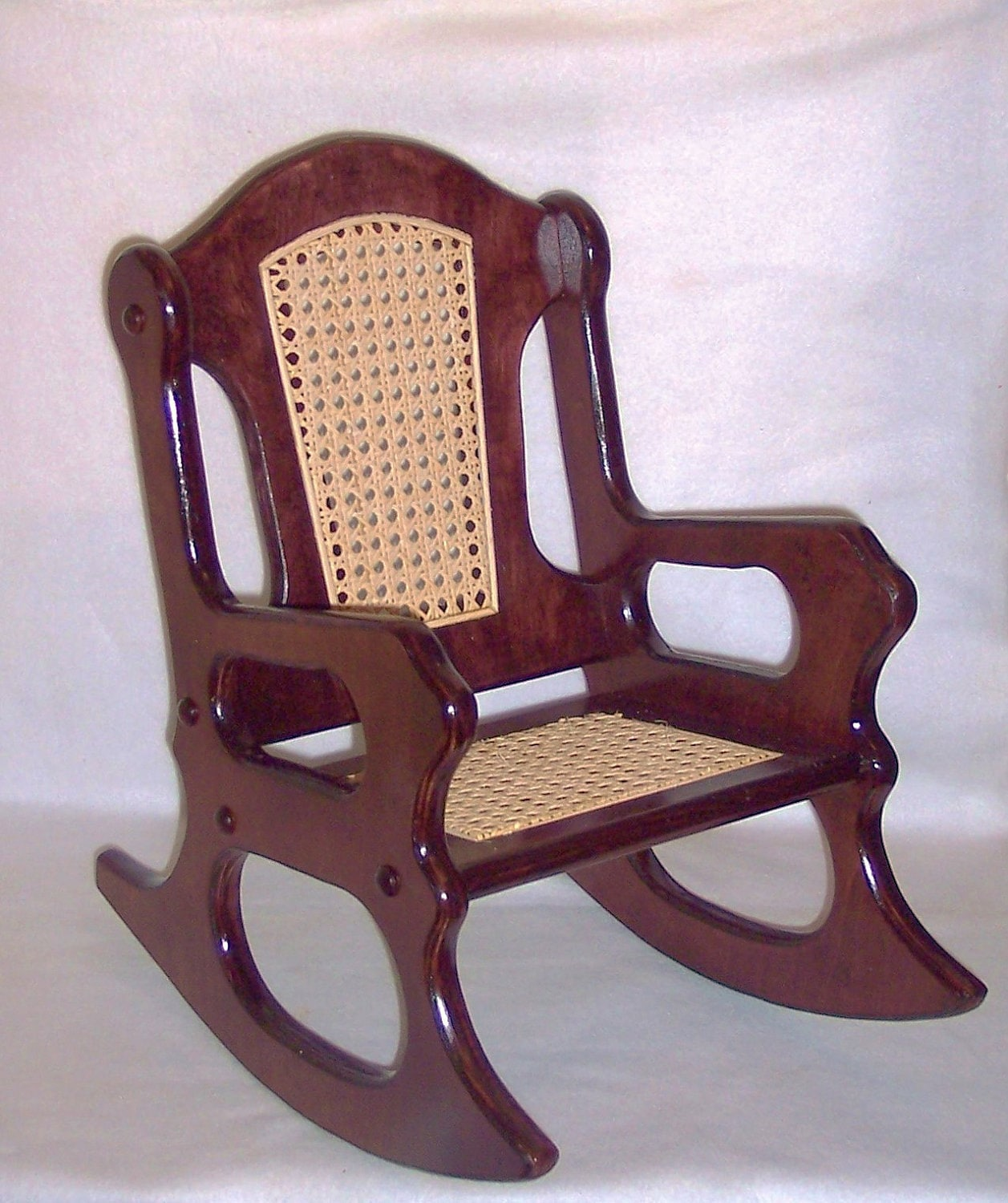 Wooden Rocking Chair Mahogany And Cane By Weaverwood On Etsy. Full resolution  image, nominally Width 1257 Height 1500 pixels, image with #9B5F30.