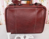 Burgundy Blues, French Vintage His or Hers Wine Large Weekender Hold-All Valise Case