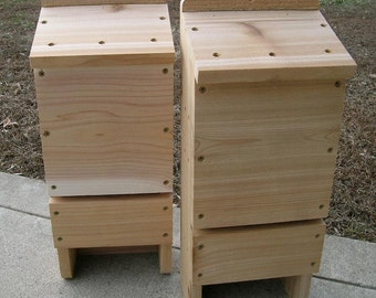 Three Chamber Western Red Cedar Bat House, 2 Pack