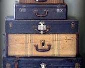 Vintage Black Suitcase Extra Large