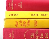 Instant Collection Vintage Book Bundle Red, Yellow
