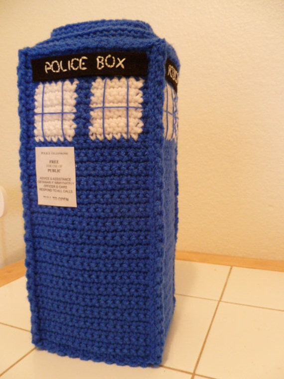 Crochet TARDIS - Doctor Who - PDF Pattern - Instant Download