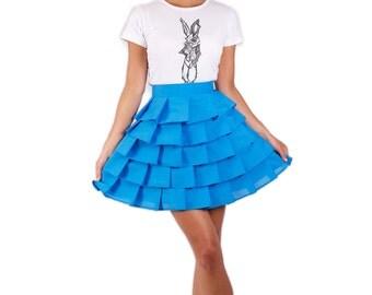 Wonderland layered 'Alice Ruffle Skirt' - Blue