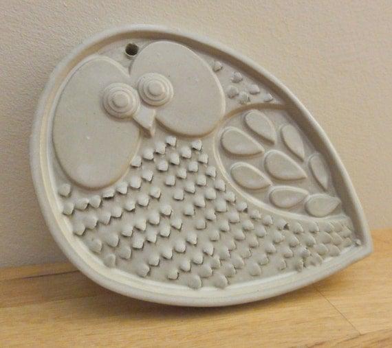Vintage Mod Owl Ceramic Grater