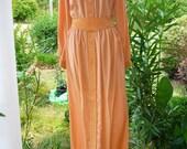 Vintage MmCohn Peach Long Dress