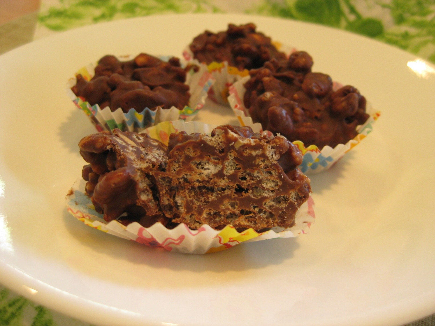 Chocolate Candy Rice Crispy Treat Peanut Butter by momscookies