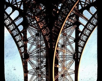 Paris, France, Eiffel Tower, Iron and Lace, Unmatted 8x8 TTV-inspired Fine Art Print