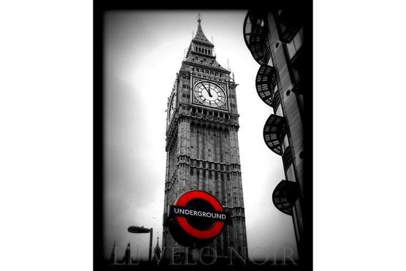 London, England, Big Ben and the London Underground, Unmatted 8x10 Fine Art Photo
