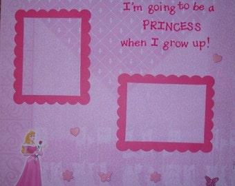 Sleeping Beauty Premade 12x12 Scrapbook Page