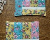 patchwork trivet set, vintage fabric love...
