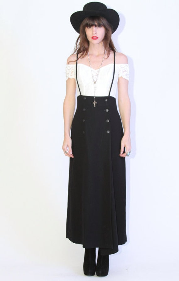 Black overall maxi dress