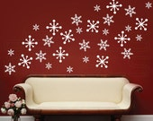 Wall decals SNOWFLAKES Holidays Christmas Decor - Surface graphics by Decals Murals