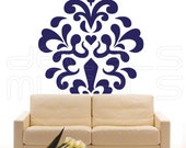 Wall decals MOD DAMASK Vinyl stickers interior decor by Decals Murals (65x56)