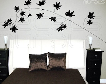 Wall decals IVY LEAVES BRANCH Surface graphics - Modern interior decor by Decals Murals