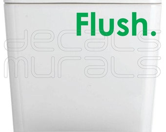 Wall decal FLUSH Vinyl lettering stickers Fun interior decor by Decals Murals