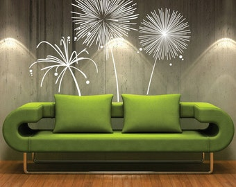 Wall decal FIREWORKS Vinyl shapes modern decor stickers by Decals Murals (Large)