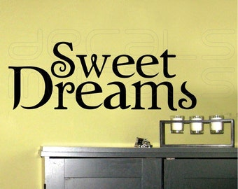 Wall decals SWEET DREAMS Surface graphics interior decor by Decals Murals (9x22)