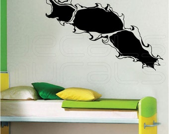 Wall decals HOLE IN A WALL Humor surface graphics - Interior decor by Decals Murals