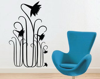 Wall decals BELL FLOWERS Flora surface graphics interior decor by Decals Murals