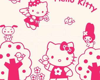 Wall Decals HELLO KITTY Kids Mural Stickers Decor Vinyl Art By Decals Murals Part 74