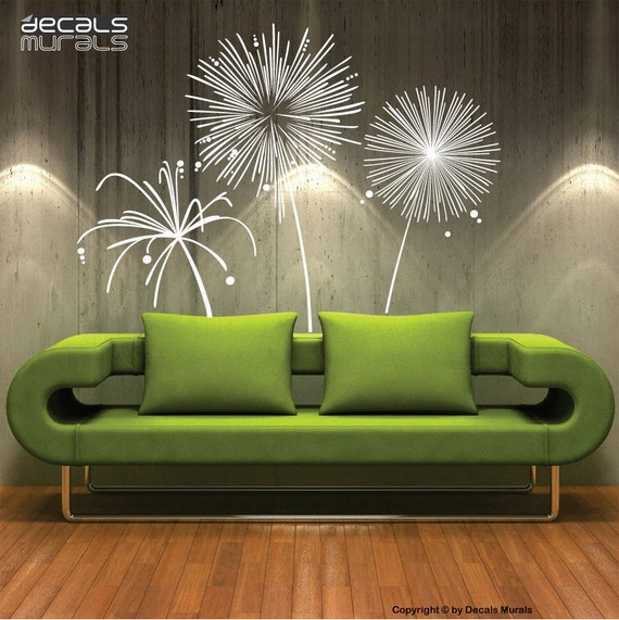 Wall Decal Fireworks Vinyl Shapes Modern Decor Stickers By
