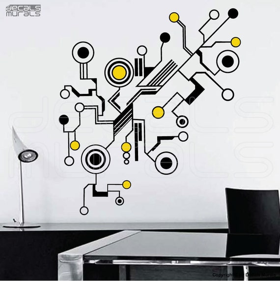 Simple shapes wall decals