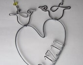 Personalized Love Bird Wall Hanging