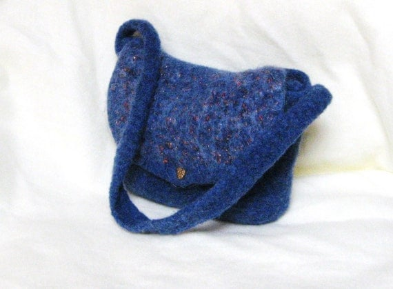Purse crocheted felted