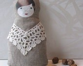 Textile russian nesting doll babushka matryoshka - SALE