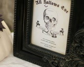 All Hallows Eve - Printable Halloween Party Invitation - Party Decor - Adult Halloween Invitations