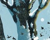 Deer & Winter Digital Print