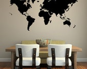 Black Friday Sale World Map Wall Mural Vinyl Decal
