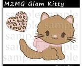 M2MG Glam Kitty Baby Illustration Clipart Digi Scrapbook Elements Clip Art Graphics