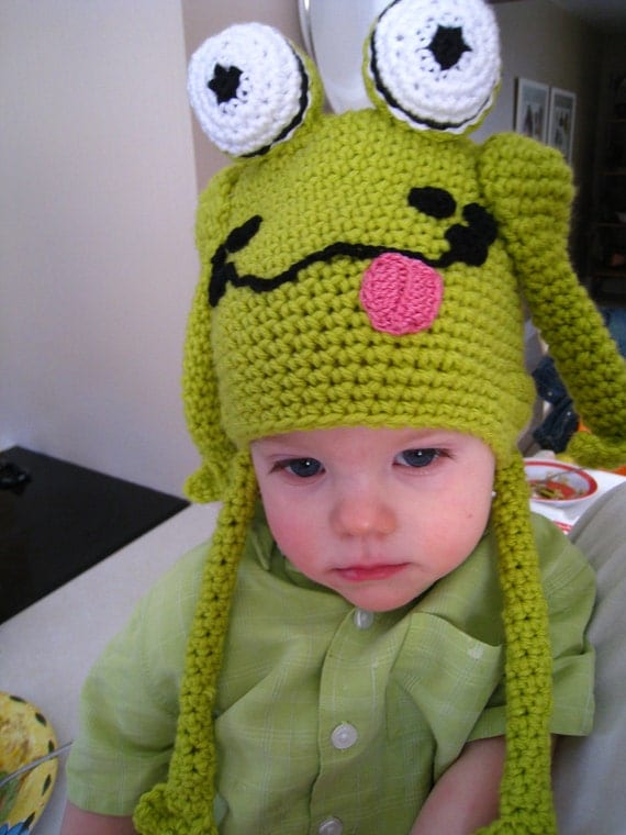 Items similar to CROCHET PATTERN - hat, frog hat, crochet baby pattern,childr...