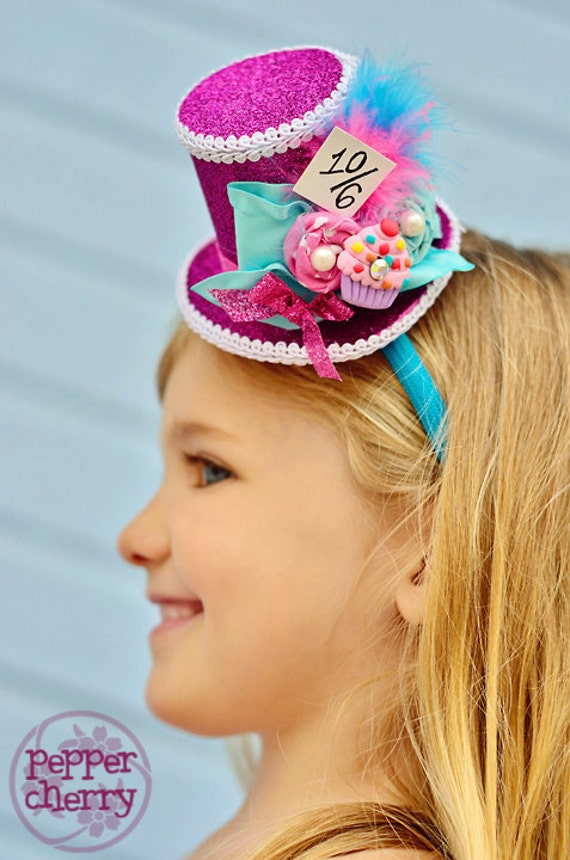 "Mini Top Hat - Cupcake ""Mad for Sweets"" Mad Hatter"