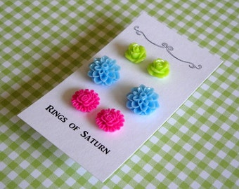 Floral Stud Earring Set SALE