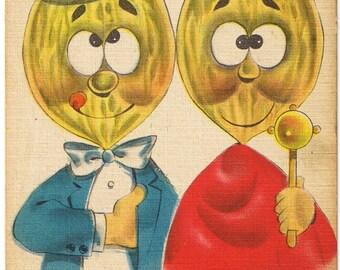 Comic Vintage Postcard - Nuts to You - Napoleon Josephine - Peanut Head