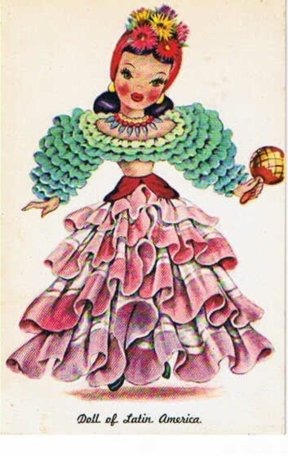 Vintage Postcard - Doll of Latin America Postcard