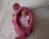 Crocheted Cradle Church Purse with Baby