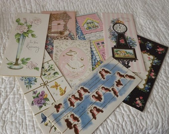 Charming Vintage Get Well Greeting Cards with Envelopes - Set of Eight