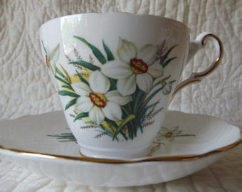 Vintage Regency Bone China Made in England Cup and Saucer