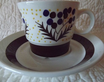 Vintage Norway Stavengerflint China Cup and Saucer