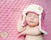Aviator HAT and Diaper Cover, Newborn Baby Photoprop, Photography HAT Pilot, Bomber Gift HAT, Photo Shoot Gift Hat, Gift Newborns Babies Hat