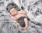Hat and diaper cover Newborn Photo prop, Photography BABY Hat, Photo shoot GIFT Newborns, photo prop Aviator Bomber Baby Hat & diaper cover
