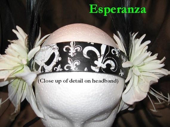 Tribal Fusion Gothic Bellydance Headband, Esperanza