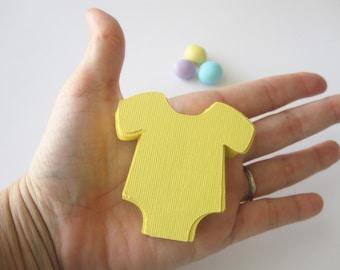 48 Baby Bodysuit Diecut textured Cardstock A20