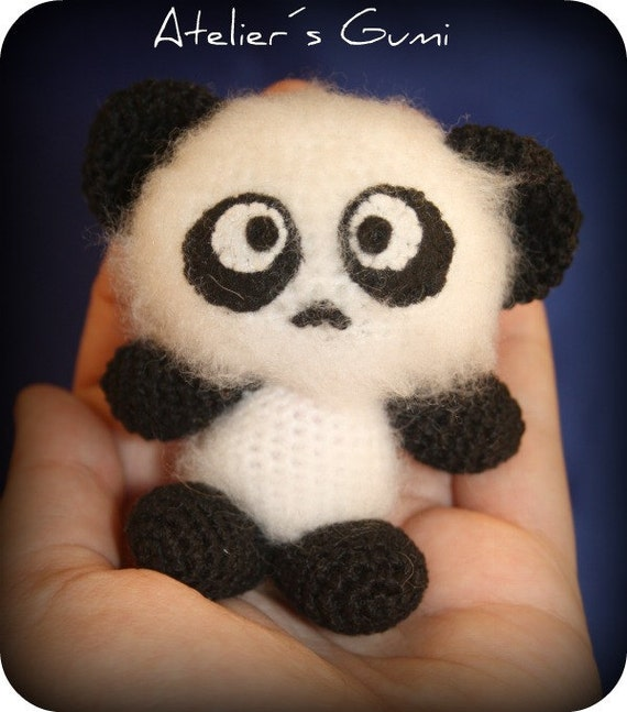 Panda - Amigurumi Crochet Plush Dolls ( finished doll )