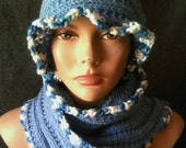 Hand Knit Chunky Scarf Hat Set Women Winter Knit Fashion Accessories Gift Ideas Valentine's Day Gift