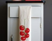 Natural Flour Sack Towel - Tomato Vine - Hand Screen Printed