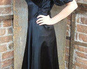 1930's Dress. My Black Wedding. Mourning Gown Dress. Goth Gown